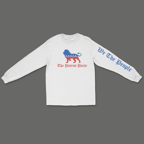 The Patriot Party Long Sleeve Shirt - White