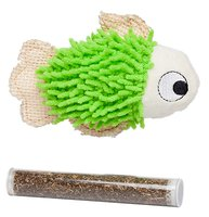 Bud'z - Fish with Catnip Tube - Green