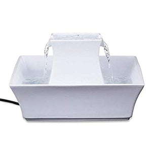 PetSafe - Drinkwell Pergoda Pet Fountain - White