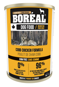 Boréal - Canadian Cobb Chicken Dog Food - Grain Free - Complete Diet - All Breed - Joint Support - North American Mineral Packs - Made in Canada