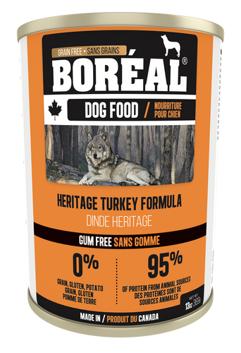 Boréal - Canadian Heritage Turkey Dog Food - Gum Free - Complete Diet - All Breed - Joint Support - Potato Free - Made in Canada