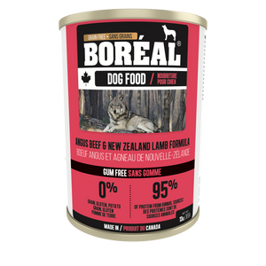 Boréal - Canadian Angus Beef & New Zealand Lamb - Canned Dog Food - Gum Free - All Breed All Life Stages - Joint Support - Canadian - Made in Canada -