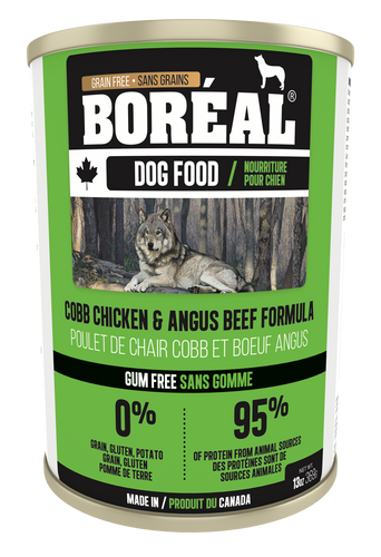 Boréal - Canadian Cobb Chicken & Angus Beef - Dog Food - Grain Free - Complete Diet - All Breeds All Lifestages - Joint Support - Made in Canada