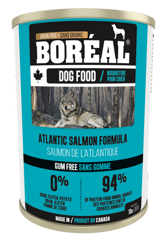 Boréal - Canadian Atlantic Salmon - Dog Food - Gum Free - Complete Diet - All Breed All Lifestage - Healthy Joint Support - Potato Free - Atlantic Salmon - Made in Canada