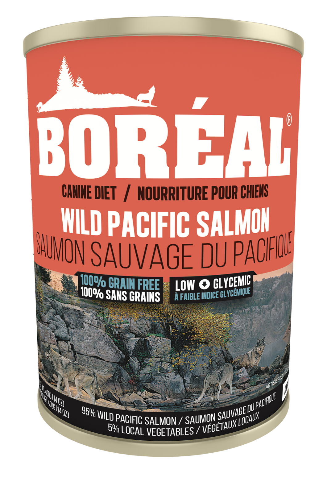 Boréal - Big Bear Wild Pacific Salmon Dog Food - All Breed - Low Glycemic - Limited Carb - Potato Free - Single Sourced Fish - Made in Canada