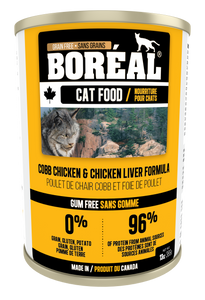 Boréal - Chicken & Chicken Liver Cat Food - Complete Diet - Grain Free - All Breed Cat Food - Canadian Chicken - Made in Canada
