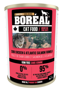 Boréal - Cobb Chicken & Atlantic Salmon - Grain Free - All Breeds Cat Food - Canadian Chicken - Atlantic Salmon - Made in Canada