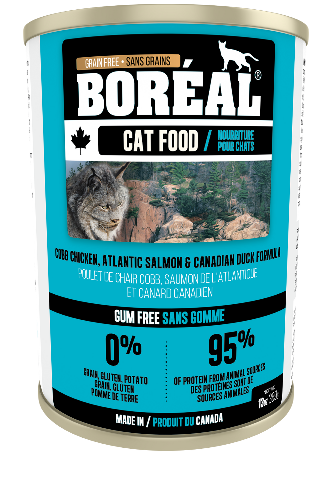 Boréal - Cobb Chicken, Canadian Duck & Atlantic Salmon Cat Food - Grain Free - Made in Canada