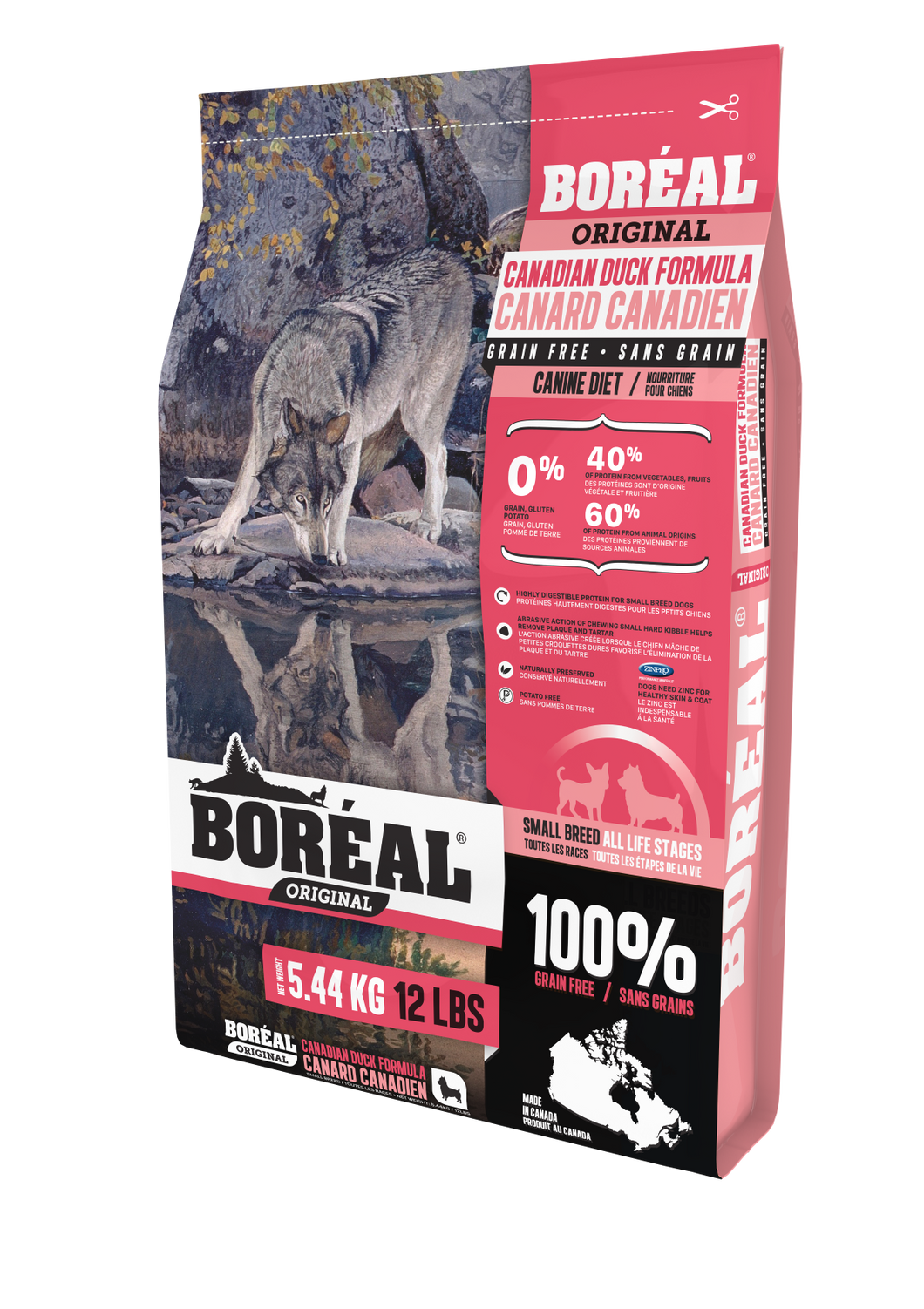 Boréal - Original Small Breed Duck - Grain Free - Low Glycemic Index - Canadian - Made in Canada
