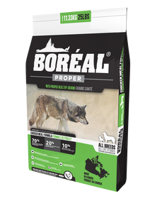 Boréal - Proper CHicken Meal Low Carb Grain Inclusive Dog Food - Low Glycemic Index - All Breed - Canadian Chicken - Free Run Ontario & Quebec Chicken - North American Minerals - Naturally Preserved - Potato Free - Single Source Chicken - Single Protein - Made in Canada