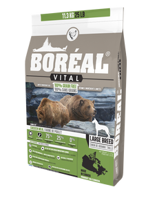 Boréal - Vital Large Breed Chicken Meal Grain Free Dog Food - Limited Ingredient Diet - Joint Support - Large Kibble - Glucosamine Fortified - Ontario & Quebec Free Run Chicken - Low Glycemic - Limited Carbs - North American Made Minerals - Naturally Preserved - Potato Free - Made in Canada