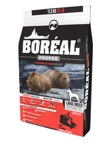 Boréal - Proper Large Breed Red Meat Low Carb Grain Inclusive Dog Food - Low Glycemic - Large Kibble - Canadian Pork Meal - Glucosamine Fortified - North American Minerals - New Zealand Lamb Meal - Potato Free - Made in Canada