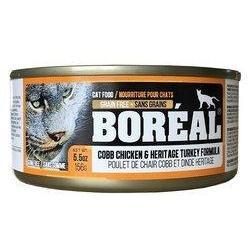 Boréal - Cobb Chicken & Heritage Turkey Cat Food - Grain Free - Free Run Chicken From Ontario & Quebec - Low Glycemic - Limited Carbs - Made in Canada