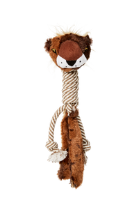 Bud'z - Plush with Cottone Rope Long Neck Dog Toy - Bear
