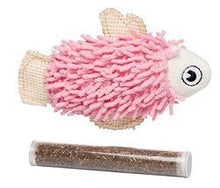 Load image into Gallery viewer, Bud'z - Fish with Catnip Tube - Pink