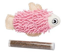 Bud'z - Fish with Catnip Tube - Pink