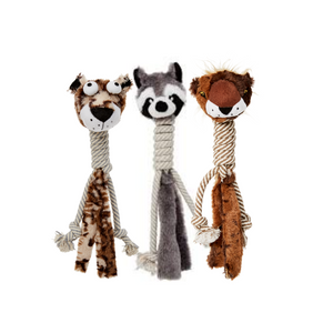 Bud'z - Plush with Cottone Rope Long Neck Dog Toy
