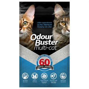 Odour Buster Multi - Cat Clumping Cat Litter - 12 KG