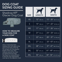 Load image into Gallery viewer, Shedrow Kp - Glacier Dog Coat - SIzing