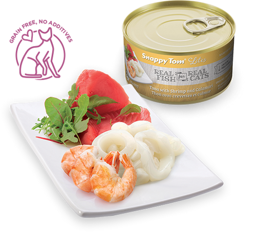 Snappy Tom Lite - Tuna with Shrimp & Calamari Cat Food - 3oz