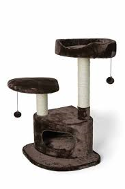Bud'z - 3 Level Cat Tree - Brown