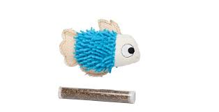 Bud'z - Fish with Catnip Tube - Blue