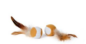 Bud'z - Ball with Feather Cat Toy