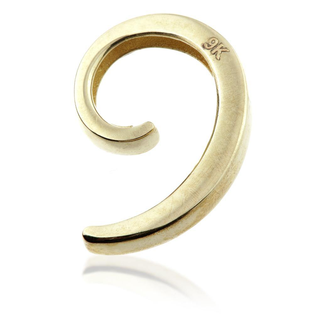 9ct Gold Spiral Ear Cuff