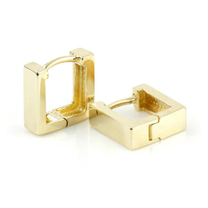 9ct Gold Flat Square 8mm Cartilage Huggie Earring
