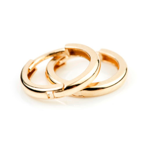 9ct Gold Rounded Cartilage Hoop 11mm Huggie Earring