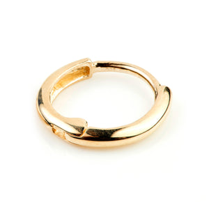 Open image in slideshow, 9ct Gold Rounded Cartilage Hoop 11mm Huggie Earring