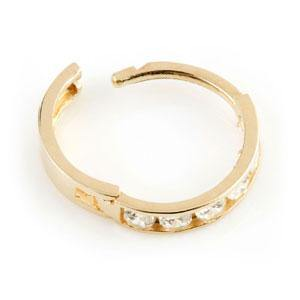 9ct Gold Small Thin Channel Crystal Huggie Earring
