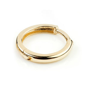 9ct Gold Plain Rounded Cartilage 9mm Huggie Earring - ZuZu Jewellery