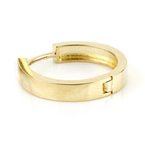 Open image in slideshow, 9ct Gold Flat Plain 17mm Hoop Earrings