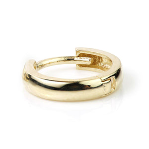 Open image in slideshow, 9ct Gold Plain Cartilage 10mm Huggie Earring