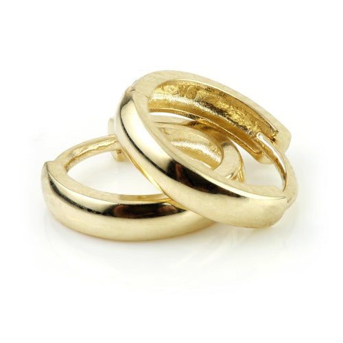 9ct Gold Plain Cartilage 10mm Huggie Earring