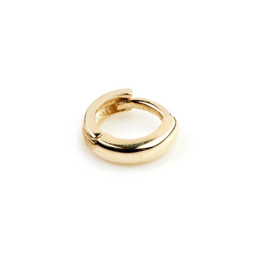 9ct Gold Tiny Plain Cartilage 5mm Huggie Earring