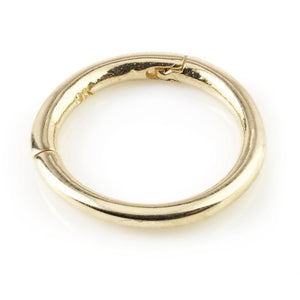 9ct Gold Plain 9mm Segment Hinge Ring (1.2mm)