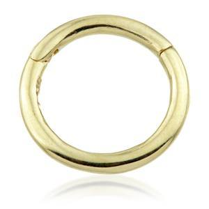 18ct Gold Plain Segment Hinge Ring (1.2mm)