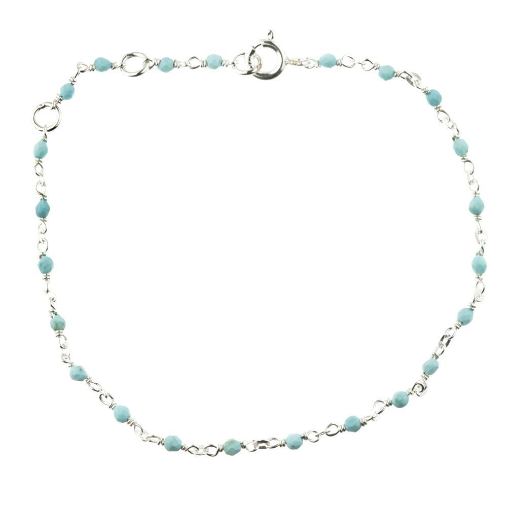 Aphrodite Turquoise Layered Silver Bracelet