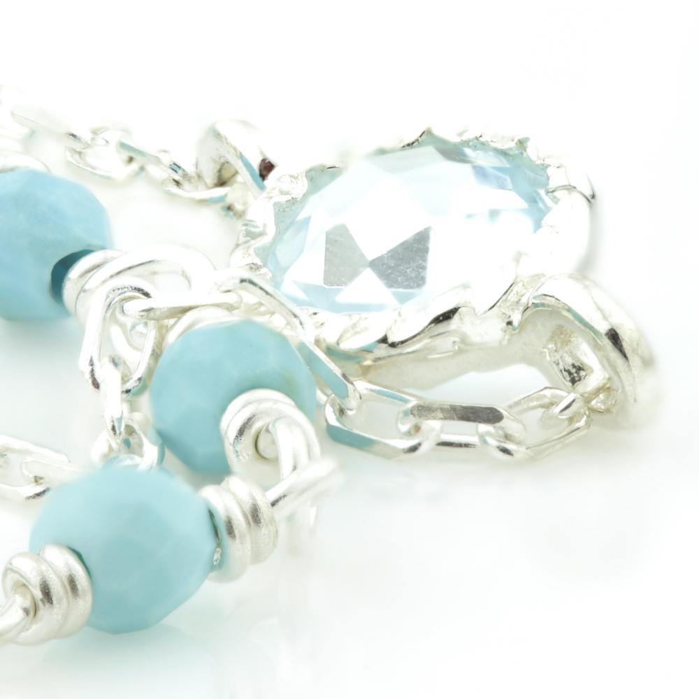 Turquoise & Blue Topaz on Silver