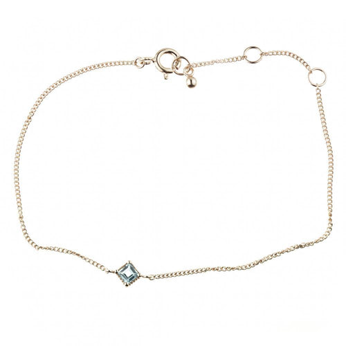 Ceto Blue Topaz Rose Gold Bracelet