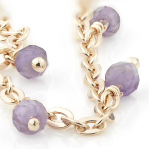 Amethyst Beads on Rose Gold Vermeil