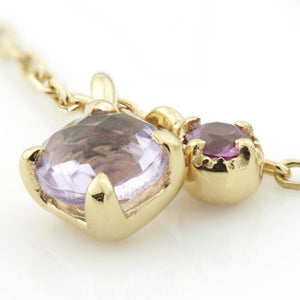 Amethyst & Garnet Gems on Gold Vermeil Chain