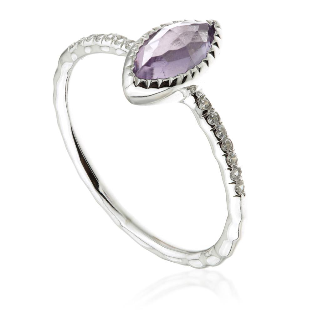 Amethyst Marquise Silver Ring