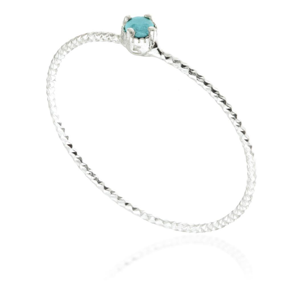 Nyx Turquoise Silver Stacking Ring