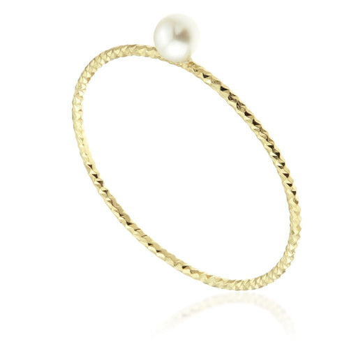 Nyx Gold Vermeil Pearl Stacking Ring