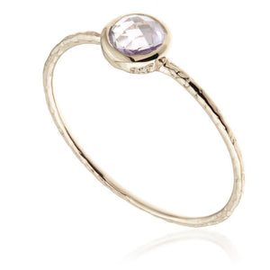 Hera Amethyst Rose Gold Stacking Ring