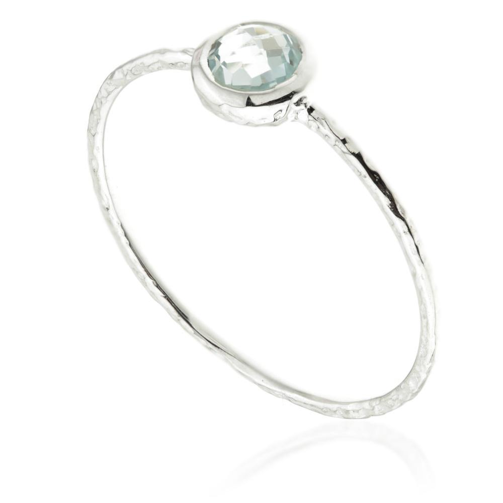 Hera Blue Topaz Silver Stacking Ring