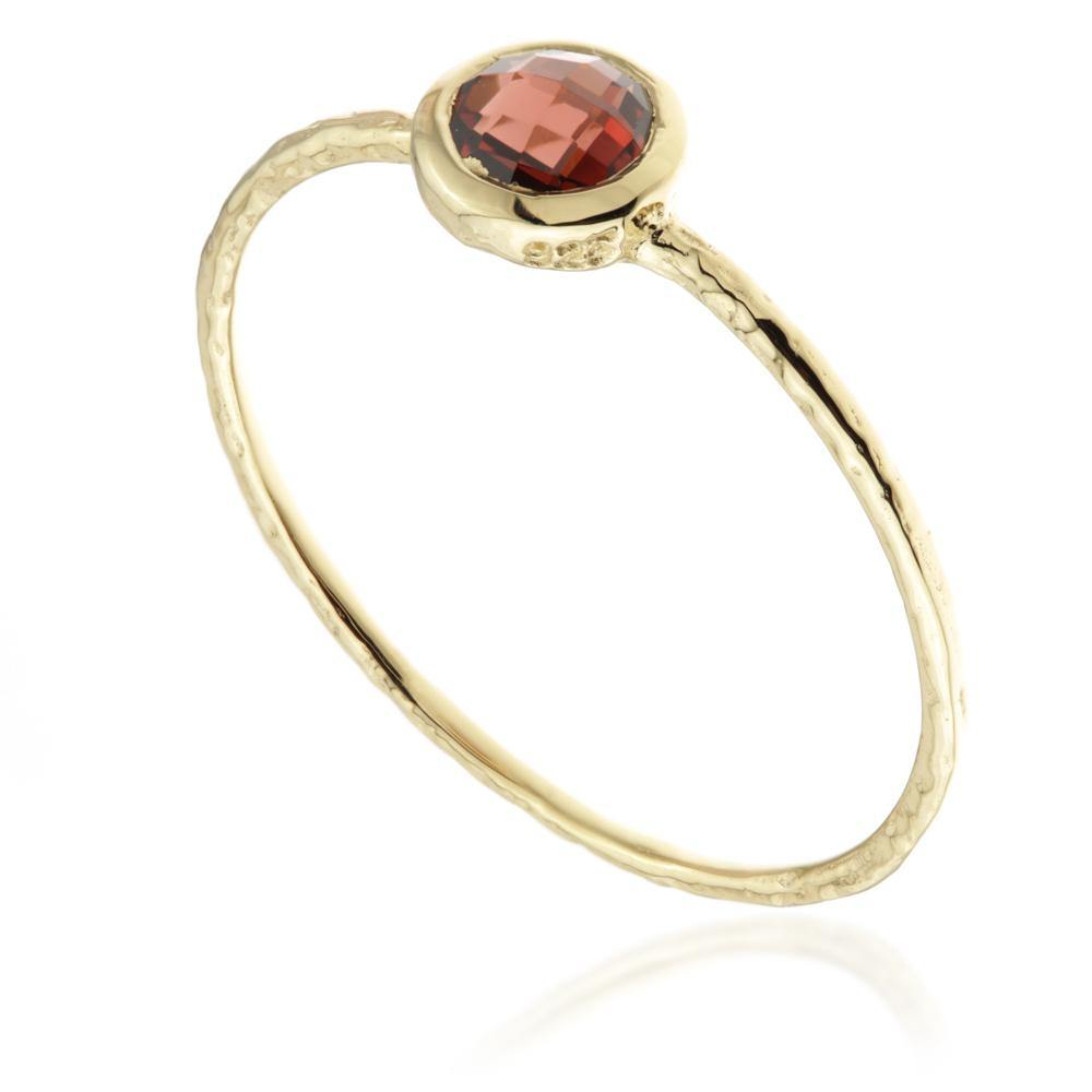 Hera Garnet Gold Vermeil Stacking Ring